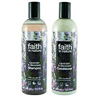 Faith In Nature Lavender & Geranium Shampoo 400ml & Conditioner 400ml Duo | Vegan | Cruelty Free | 99% Natural Fragrance | Free From SLS or Parabens 13