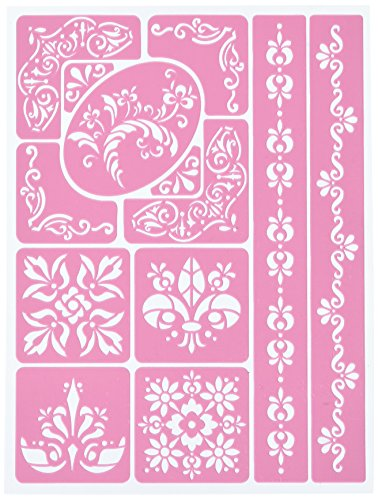 Bo Bunny Essentials stickable stencils-fanciful, andere, mehrfarbig