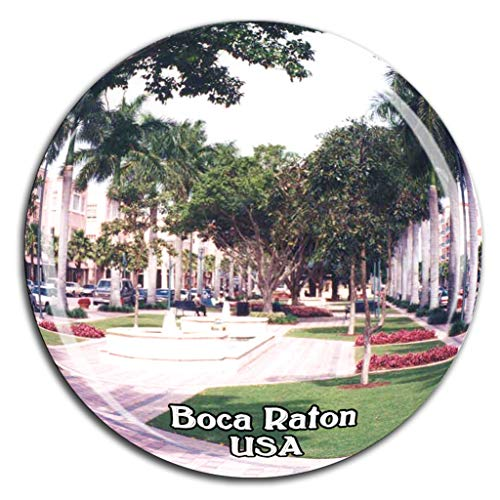Weekino Mizner Park Boca Raton Amerika USA Kühlschrankmagnet 3D Kristallglas Tourist City Travel Souvenir Collection Geschenk Stark Kühlschrank Aufkleber