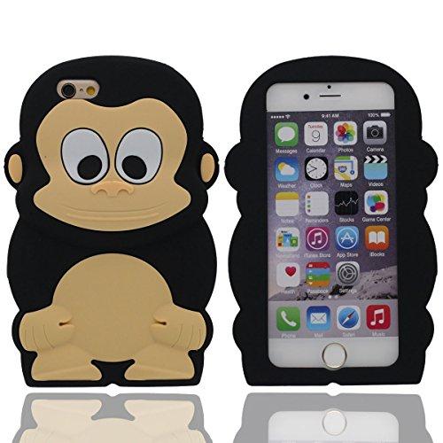 Coque iPhone 6S, Animal Style Mignonne Singe Souple Silicone Gel / Grip confortable étui Case per iPhone 6 / 6S 4.7