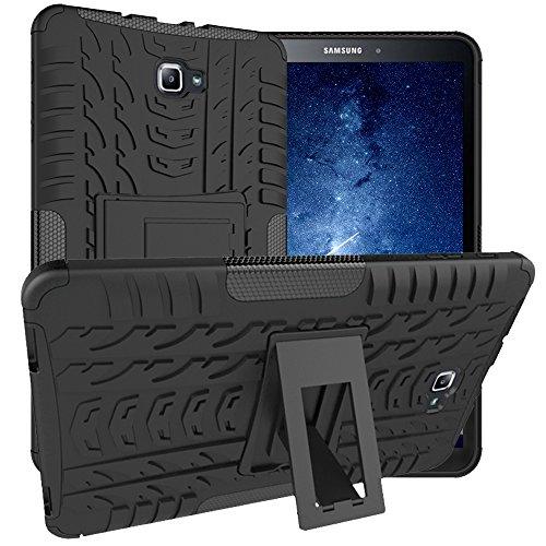 Asstar Samsung Galaxy Tab A 10.1 Hülle, Full Body Kickstand Stoßfeste Hybrid Heavy Duty Schutzhülle Cover für Samsung Galaxy Tab A 10.1 Zoll Tablet SM-T580 T585 2016 Release schwarz