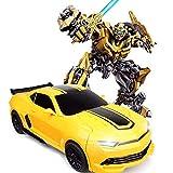 GRTVF 01:14 Dual Mode Transform RC Robot One-Button Gesto induzione deformazione Funzione Auto a 360 ° di Rotazione Transformer Autobot Giocattolo con Suoni e luci a LED for Il Regalo Bambini
