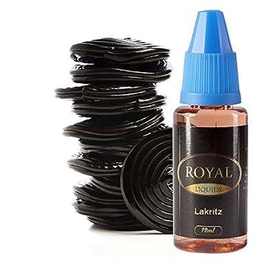 E-Liquid Lakritz ohne Nikotin für E-Zigarette 12ml Inhalt von Royal Liquids