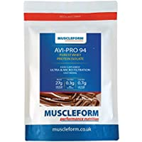 Muscleform Avi-Pro 94 Pure Whey Protein Isolate 94% 1kg Resealable Pouch - Fast Delivery - Double Chocolate