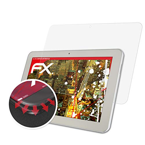 atFolix Schutzfolie passend für Toshiba Encore 2 WT10-A-102 Folie, entspiegelnde & Flexible FX Bildschirmschutzfolie (2X)