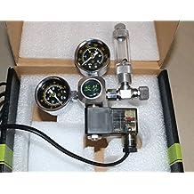Acuario Co2 descompresión cuadro carbono electromagnética válvula de gran precisión micrometering, indicadores de doble regulador