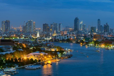 "Poster-Bild 90 x 60 cm: ""Bangkok cityscape. bangkok city view in the business district."", Bild auf Poster"