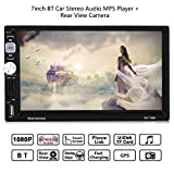 2 Din Autoradio mit Navi, 7in Auto MP5 Vedio Player Touch Screen Bildschirm mit Bluetooth unterstützt AM- / FM- / RDS- / AUX- / GPS-Navigationsfunktion