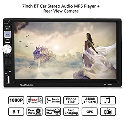Qiilu-7inch-2Din-BT-Auto-Multimedia-Radios-Spieler-Audio-MP5-Player-Rckfahrkamera