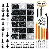 DaskFire 450 PCS Rivet Clips Plastique Vehicle Clips Agrafe Plastique Rivets pour Auto Voitures Panneaux de Portes avec Boîte De Rangement et Outil Installation