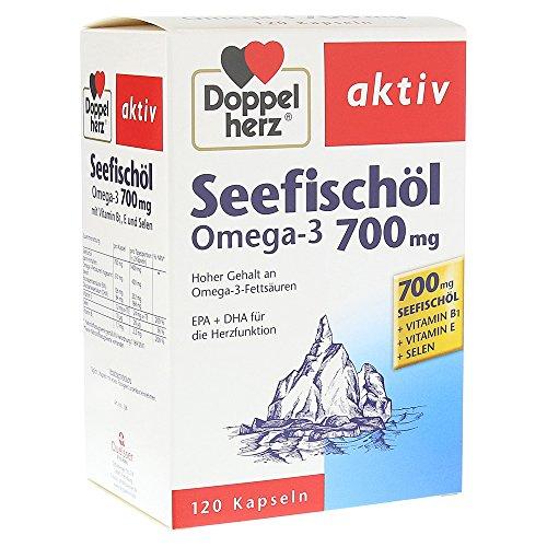 Doppelherz Seefisch�l Omega-3 700 mg aktiv, 120 St