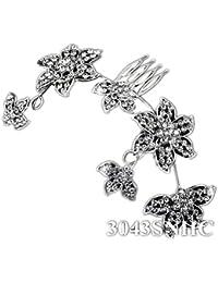 SEXYHER Diamante Haar-Kamm mit Blumen-Entwurf - 3043SNHC