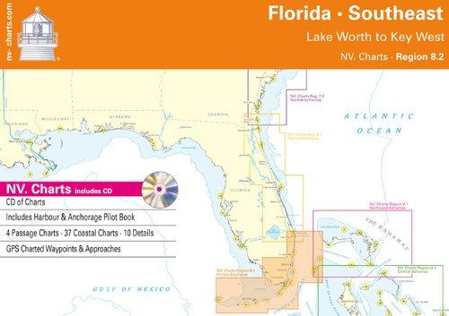 Florida - Southeast - Lake Worth to Key West (NV.Chart - Reg. 8.2) (Seekarten Florida)