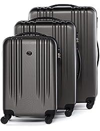 FERGÉ® Valigia molti colori e dimensioni MARSIGLIA - leggero Bagaglio ABS duro Trolley rigido con 4 ruote