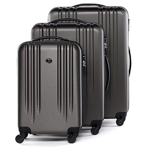FERGÉ Dreier Kofferset Marseille Trolley-Koffer neu Reisekoffer leicht | Set 3-teilig Hartschalenkoffer mit 4 Komfortrollen (360°) | Koffer Hartschale...