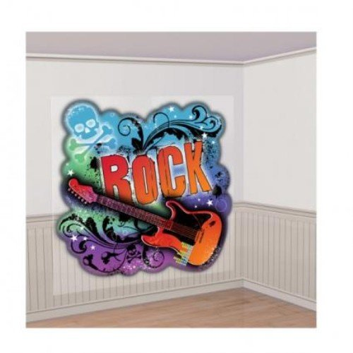 amscan International Scene Setter Wand Dekoration Rock Star, 2Stück