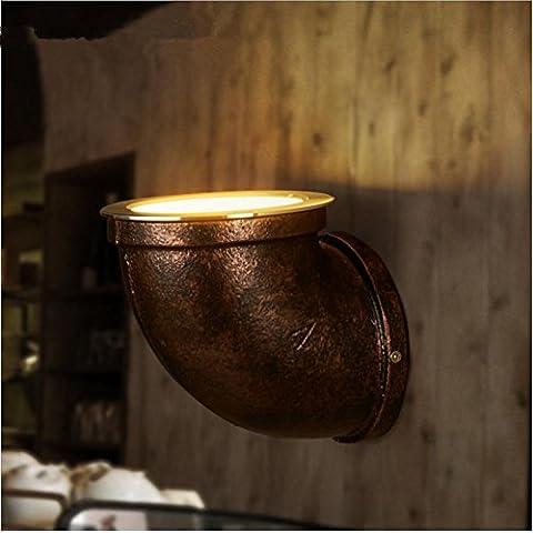 Nave industrial escaleras viento lámpara de pared de tubería creativo de corredor lámparas/nostalgia restaurante bar retro , 2