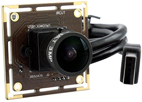 ELP 960P HD 1.3 Megapixel CMOS 1/3 AR0130 digitale geringer Beleuchtung Weitwinkel USB Kamera Modul (170-Grad-Fischaugen-Objektiv)