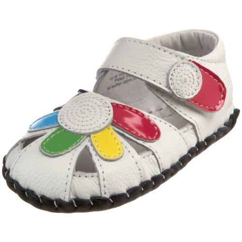 pediped Daisy, Sandales pour bébé premiers pas bébé fille Multicolour (White Multi)