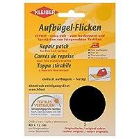 Kleiber Iron On Repair Patch for Fine Knit Textiles-40cm x 12 cm Size-Black