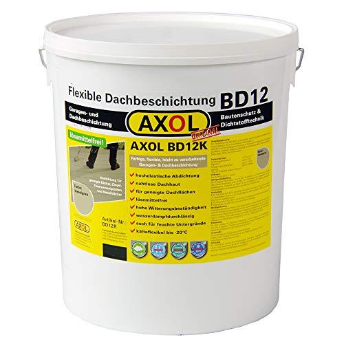 (€ 11,58/kg) Bitumendach abdichten selber Abdichten von geneigten Dächern, Eternit-Platten, Welldach, Faserzement.Flüssigkunststoff kieselgrau