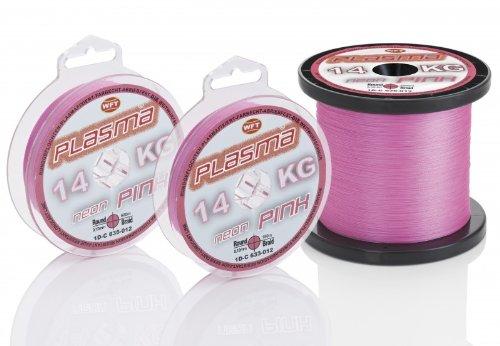 WFT KG Plasma round 150m geflochtene Schnur 0,08mm-0,36mm, Durchmesser:0.18mm, Farbe:Pink