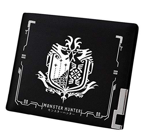 Cosstars Monster Hunter MH Spiel Bifold Brieftasche Kunstleder Schlanke Geldbörse Portemonnaie Kreditkartenhülle /7 (Monster Hoodies Für Männer)