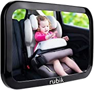 Rubik Baby Car Backseat Mirror, Safety Car Seat Mirror for Rear Facing Infant with Wide Crystal Clear View, Sh