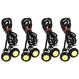Led Marker Lichter 12 V Motorrad Led-leuchten Universal Nebelscheinwerfer DRL LED Tagfahrlicht Adlerauge Rückleuchten Rückfahrscheinwerfer für Auto und Bumper 9 Watt 18mm (4er Pack) (Weiß 4St)