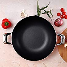 Royalford RF325WP30 Aluminium Wok Pan, 30 CM – Induction Safe Frying Pan with Durable Non-Stick Granite Coating – Frypan & Heat-Resistant Handles - Cookware Casserole Pan