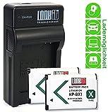 LOOKit Ladegerät + 2x LOOKit Akku BX1 (echte 1190mAh) für Sony HX350, Sony DSC-RX100 V, Sony FDR-X3000R, Sony HDR-AS300R, Sony HX350, Sony DSC-RX100M5, Sony HX80B / Sony RX100 IV / Sony HDR-AS50 / Sony HX90 V / RX100 III / RX1R / HDR-AS100V