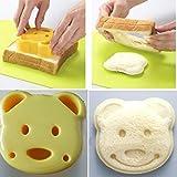MMRM Bear Shape Sandwich Cutter Cookie Pastry Pancake Cutter Toast Maker Bread Mold
