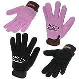 Hudora Schlittschuhhandschuhe in den Farben Schwarz und Rosa verschiedene Größen