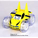 Adonai Remote Controlled 360 Degree Battery Operated Stunt Car For Kids With Music (Yellow)