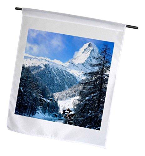3dRose Matterhorn über Stadt Zermatt, Schweiz–Garten Flagge, 12durch 45,7cm