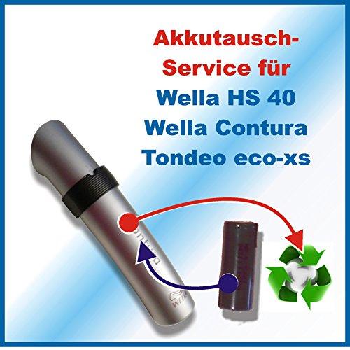 Akkuwechsel Wella Xpert HS40, Contura, Tondeo eco xs - Service Akkutausch Akku Batterie Replace - HS 50 ACHTUNG!!! Ohne vorher zugesendetes Versandmaterial!!! Sehen Sie dafür bitte in die Angebote Premiumtausch *Akkutauschen.de ist ausgezeichnet mit dem Qualitätssiegel Werkstatt N des Rates für Nachhaltige Entwicklung*