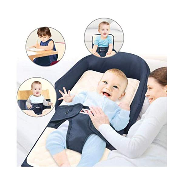 YANGGUANGBAOBEI Bionic Bed,Breathable Lounger Cotton Waffle Handmade Reducer - Perfect For Co Sleeping,for 0-24 Months,Beige YANGGUANGBAOBEI [From Baby Bed to Backpack, Even Diaper Bag] It creates a comfy, cozy and safe space to co-sleep, nap for your baby. Folding design transforms it to a backpack in seconds. Extra inner space makes it to be a alternative diaper Bag . [Lightweight Changing Station with Sound - Light] The baby bed and portable cosleeper can also be used used as a diaper changing mat.This perfect and practical solution makes mother's whole traveling with baby easier and more relax. [Waterproof Mattress - Easy To Clean] The pad of the bassinet is waterproof, while the entire removable liner is machine-washable so you don't have to worry about spills, messes, or rough terrain. Keeps your baby's lounger clean and hygienic. 2