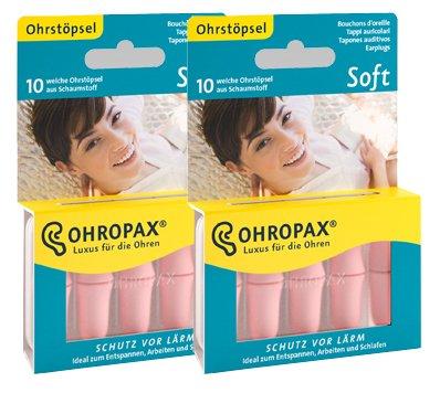 2x OHROPAX Soft Schumstoff-Ohrstöpsel (2x10Stk.) Test