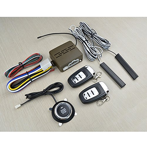 Zantec 12 V Universal 8 Stücke Auto Alarm Start Sicherheitssystem PKE Induktion diebstahl Keyless Entry Push Button Remote Kit -