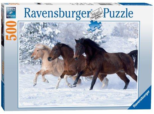 Ravensburger-Gallop-im-Schnee-Puzzle-mit-500-Teile