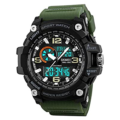 SKMEI Analog-Digital White Dial Men's Watch-1283 Green