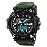 SKMEI Analog-Digital White Dial Men's Watch-1283 Green