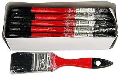 12 x Flach Lack Lasur Maler Lackier Farb Pinsel 35mm schwarze Chinaborsten Set von KRONEN MALER PINSEL bei TapetenShop