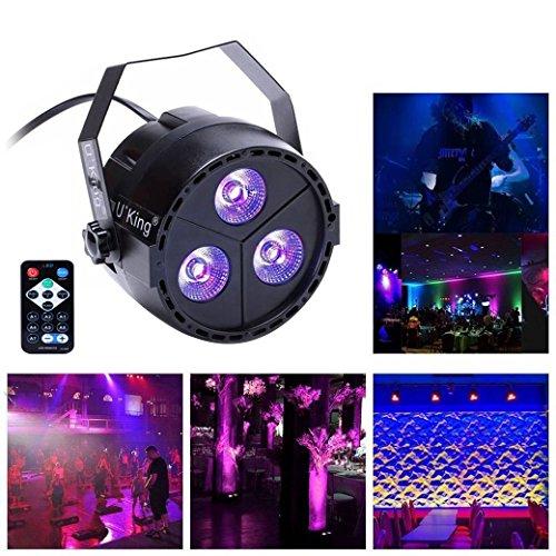 Top-Uking Par Licht Lichteffekt UV Schwarzlicht Automatisierte Bühnenbeleuchtung Sprachaktivierte Stage Discolicht LED Par Licht Strahler Ton...