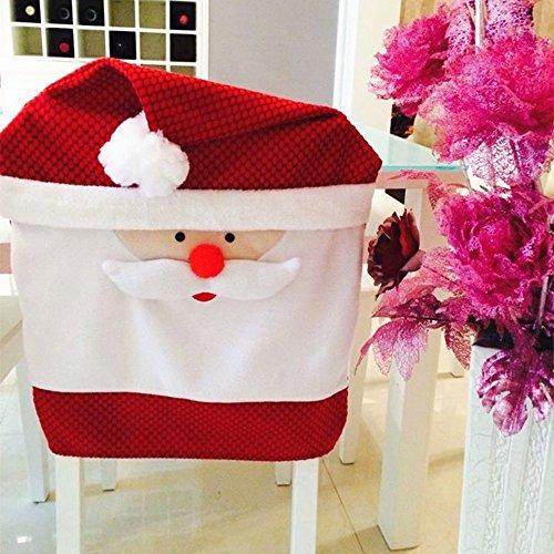 SSITG 65 x 50 cm Noël Housse de chaise Noël Bonnet Fauteuil Housse Couverture