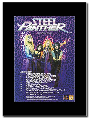 Steel Panther - Balls Out UK Date Tour 2012 Magazine Promo su un nero Mount