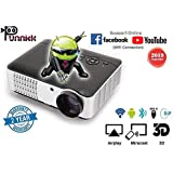 OOZE Punnkk and WiFi Full HD LED LCD Home Theater Projector, 3500 Lumen 1080P