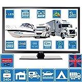 Estar TV HD portátil de 24 Pulgadas, Doble Potencia 240 V y 12 V DVB-T2 Freeview Ideal para Autocaravana, Barco, Camping por OnSaCo