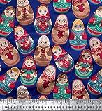 Soimoi Viskose Chiffon 42 Zoll breite Stoff russische Puppe
