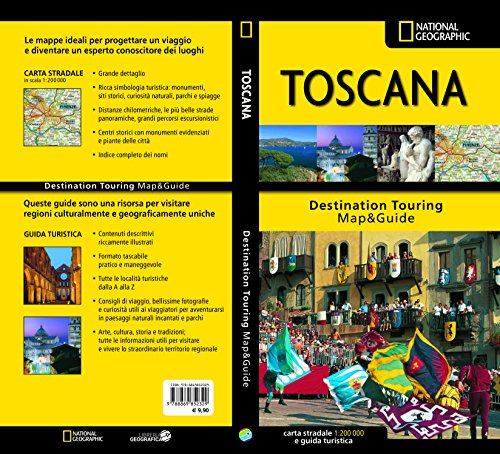 Toscana. Carta stradale e guida turistica. 1:200.000
